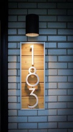 Cool Diy House Number Projects Design Ideas That Looks More Elegant 17