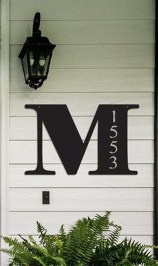 Cool Diy House Number Projects Design Ideas That Looks More Elegant 22