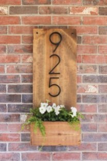 Cool Diy House Number Projects Design Ideas That Looks More Elegant 31