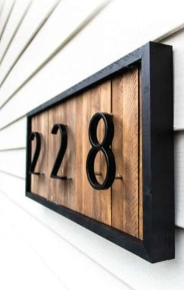 Cool Diy House Number Projects Design Ideas That Looks More Elegant 34
