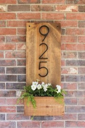 Cool Diy House Number Projects Design Ideas That Looks More Elegant 35