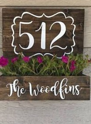 Cool Diy House Number Projects Design Ideas That Looks More Elegant 36