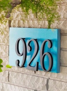 Cool Diy House Number Projects Design Ideas That Looks More Elegant 39