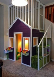Cute Indoor Playhouses Design Ideas That Suitable For Kids 20