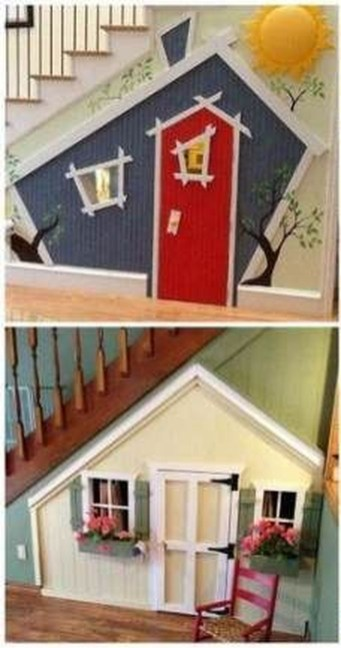 Favorite Kids Playhouses Design Ideas Under The Stairs To Have 38