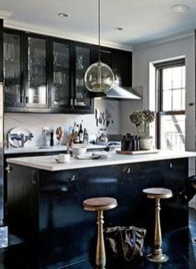 Modern Black Kitchens Design Ideas For Bachelors Pad To Try Asap 24