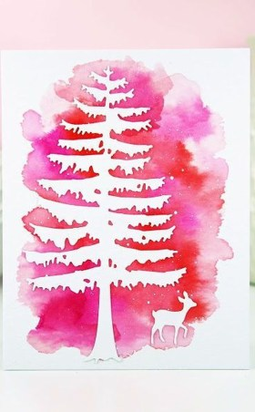 Sophisticated Pink Winter Tree Design Ideas That Looks So Cute 36