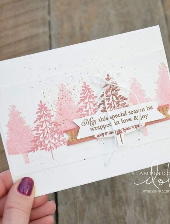 Sophisticated Pink Winter Tree Design Ideas That Looks So Cute 38