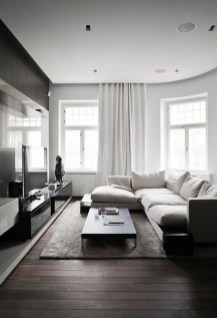 Attractive Living Room Design Ideas With Wood Floor To Try Asap 20