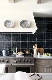 Extraordinary Black Backsplash Kitchen Design Ideas That You Should Try 05