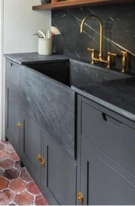 Extraordinary Black Backsplash Kitchen Design Ideas That You Should Try 06