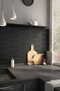 Extraordinary Black Backsplash Kitchen Design Ideas That You Should Try 10