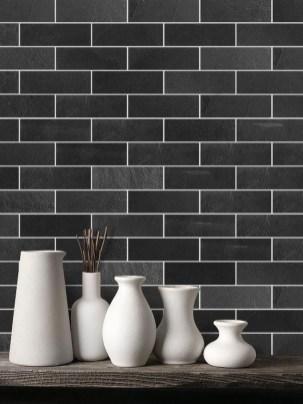 Extraordinary Black Backsplash Kitchen Design Ideas That You Should Try 16