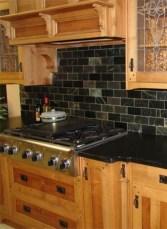 Extraordinary Black Backsplash Kitchen Design Ideas That You Should Try 17