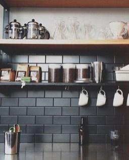 Extraordinary Black Backsplash Kitchen Design Ideas That You Should Try 21