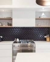 Extraordinary Black Backsplash Kitchen Design Ideas That You Should Try 24