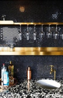 Extraordinary Black Backsplash Kitchen Design Ideas That You Should Try 29