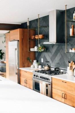 Extraordinary Black Backsplash Kitchen Design Ideas That You Should Try 35