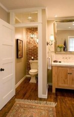 Fabulous Bathroom With Wall Brick Decoration Ideas To Try Asap 01