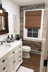 Fabulous Bathroom With Wall Brick Decoration Ideas To Try Asap 16