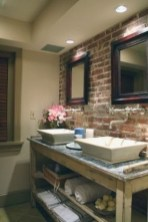 Fabulous Bathroom With Wall Brick Decoration Ideas To Try Asap 21