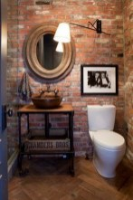 Fabulous Bathroom With Wall Brick Decoration Ideas To Try Asap 27