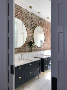 Fabulous Bathroom With Wall Brick Decoration Ideas To Try Asap 30