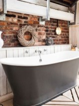 Fabulous Bathroom With Wall Brick Decoration Ideas To Try Asap 36