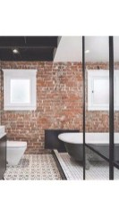 Fabulous Bathroom With Wall Brick Decoration Ideas To Try Asap 42