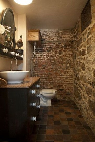 Fabulous Bathroom With Wall Brick Decoration Ideas To Try Asap 46