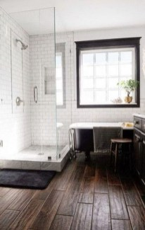 Fancy Wood Bathroom Floor Design Ideas That Will Enhance The Beautiful 05