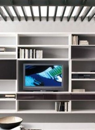 Interesting Living Rooms Design Ideas With Shelving Storage Units 13