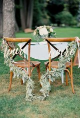 Magnificient Outdoor Wedding Chairs Ideas That Suitable For Couple 11