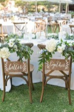 Magnificient Outdoor Wedding Chairs Ideas That Suitable For Couple 28