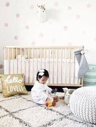 Relaxing Baby Nursery Design Ideas With Polka Dot Themes To Try Asap 12
