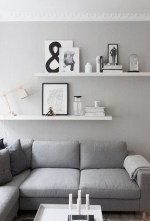 Unique Living Room Floating Shelves Design Ideas For Great Home Organization 16