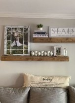 Unique Living Room Floating Shelves Design Ideas For Great Home Organization 23