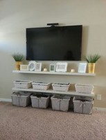 Unique Living Room Floating Shelves Design Ideas For Great Home Organization 28