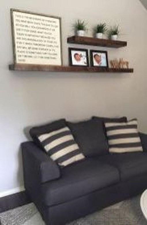 Unique Living Room Floating Shelves Design Ideas For Great Home Organization 38