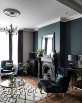 Unusual Black Living Room Design Ideas For More Enchanting 10