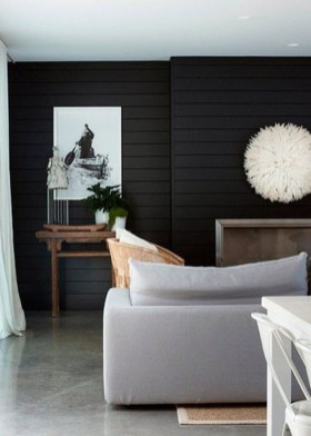 Unusual Black Living Room Design Ideas For More Enchanting 16