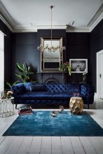 Unusual Black Living Room Design Ideas For More Enchanting 23