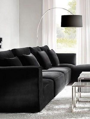 Unusual Black Living Room Design Ideas For More Enchanting 26
