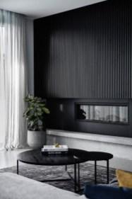 Unusual Black Living Room Design Ideas For More Enchanting 32