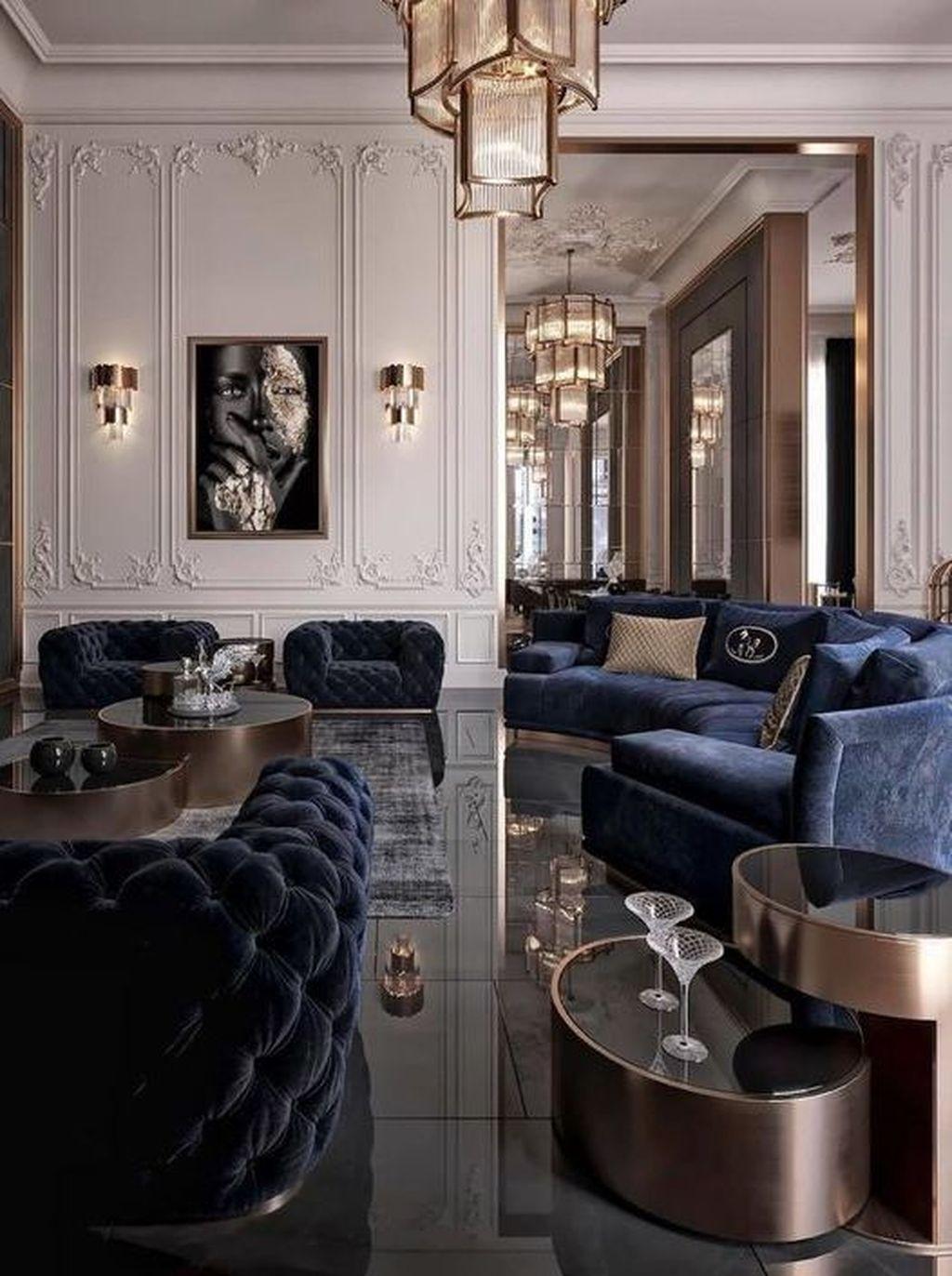 Unusual Black Living Room Design Ideas For More Enchanting 38
