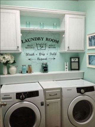 Wonderful Bright Laundry Room Designs Ideas That You Need To Try 36
