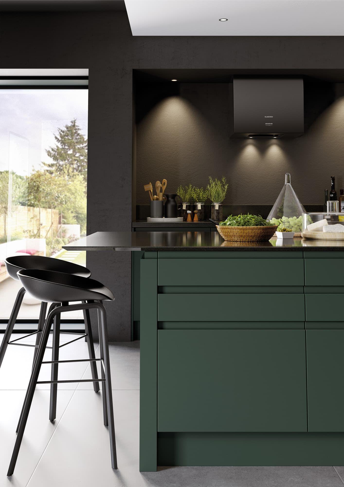 Green Walls Kitchen Design