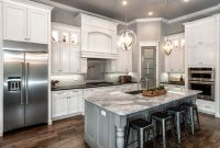 Gray Kitchen Cabinets With White Countertops