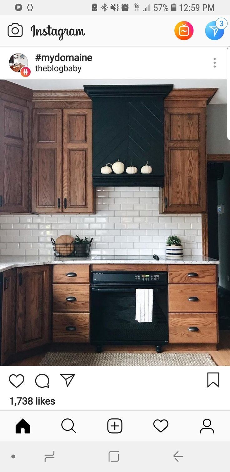White Oak Cabinets With Black Hardware