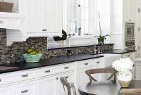 White Kitchen Dark Backsplash